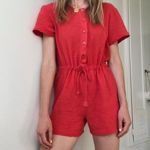 Vintage Red Romper 🍒